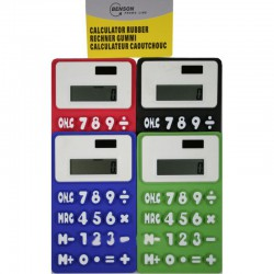 CALCULATOR RUBBER MIX KLEUR...