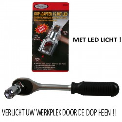 "DOP ADAPTER 1/2 "" MET LED +..."